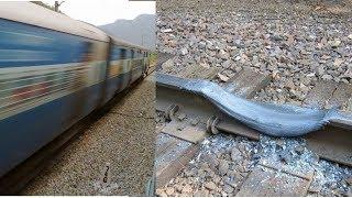 كان القطار يسير بسرعة 100 كم قبل أن ينكسر القضيب أمامه.. شاهد ما حدث !!