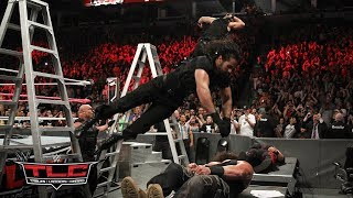 Seth Rollins and Dean Ambrose cause carnage with elbow drops through tables: WWE TLC 2017