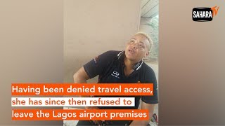 Sister Of Popular Nigerian Football Player, Osaze Odemwingie Stranded At Murtala Airport