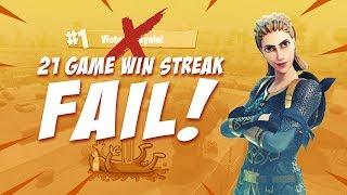 21 Game Win Streak Fail!? - Fortnite Battle Royale Highlights - Ninja