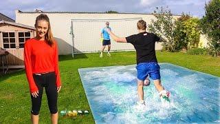 SLIP 'N' SLIDE FOOTBALL vs MY SISTER