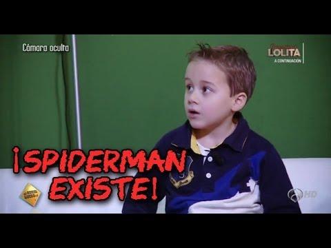 Cámara oculta de niños en El Hormiguero Jandro el hombre araña