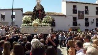 La Despedía de Álora [13]: La Virgen de los Dolores va sin palio la mañana del Viernes Santo