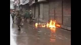 so much violence in kashmir during buran kill by indian army