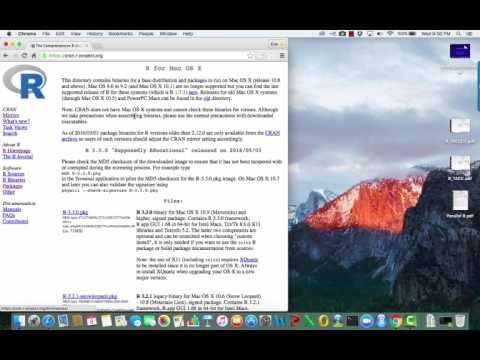 Download R for Mac