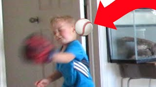 ⚾MOM HITS KID IN THE FACE WITH BASEBALL😲   👩MOM FAIL   BASEBALL   DYCHES FAM