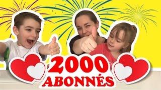 SPÉCIALE dédicaces pour les 2000 ABONNÉS !!!!! MERCI !!!! KID STUDIO TEST