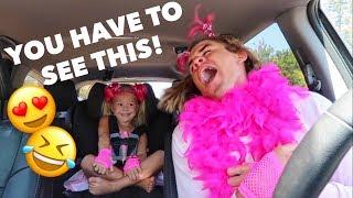 4 YEAR OLD GIRL AND DADDY DO CUTEST CARPOOL KARAOKE EVER!!!