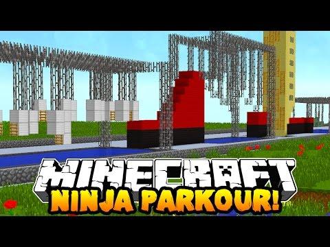 Minecraft NINJA WARRIOR PARKOUR COURSE Special Obstacles w PrestonPlayz & Kenny
