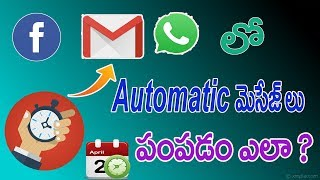 How to Send Automatic Messages on WhatsApp Facebook and Gmail   Technological News   Net India