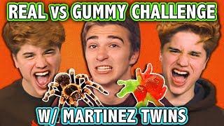 REAL FOOD VS GUMMY FOOD CHALLENGE! (ft. Martinez Twins) | Challenge Chalice