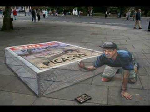 un impresionante artista urbano