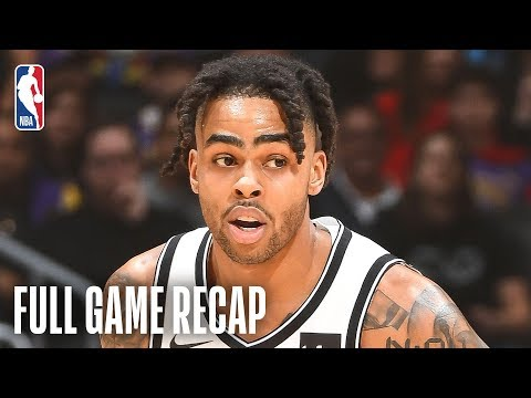 NETS vs LAKERS D Angelo Russell Goes For 21 & 13 Against Los Angeles March 22 2019