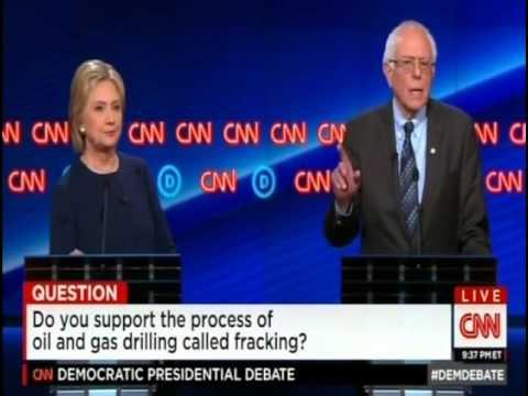 Bernie Sanders ~ Flint, MI Democratic Debate ~ Fracking Question