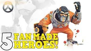 Overwatch Top 5 Fan Made Heroes  #8