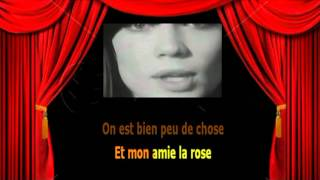 Karaoké Françoise Hardy  -  Mon amie la rose