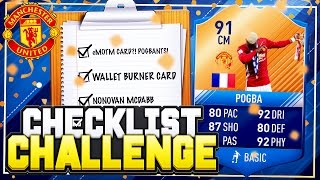 FIFA 17 CHECKLIST CHALLENGE!! 📋 91 eMOTM POGBA! 😱 FIFA 17 SQUAD BUILDER