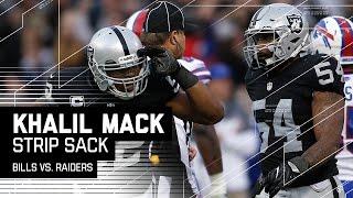 Khalil Mack's Clutch Strip Sack Ices the Game! | Bills vs. Raiders | NFL