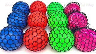 Learn Colors with Squishy Balls and Microwave Surprise Toys
