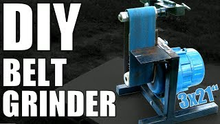 Homemade Belt Grinder made from Trash DIY