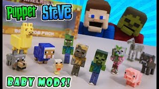 Minecraft BABIES?! BABY Mobs & Animals Packs Jazwares Action Figures Wave 3.4 Toy Unboxing