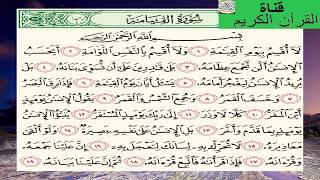 سورة القيامة بصوت الشيخ هاني الرفاعي HD