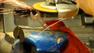 How to make a bottle opener from a wrench