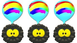 The Colorful Giant Balloon-Parachute Ride! Grab and Play With Squishy Wonderballs & Funny Cartoons