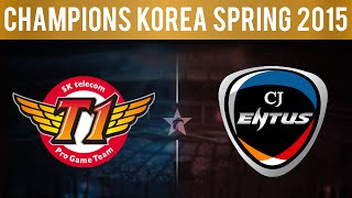 SKT vs CJ, Game 4 | LCK Spring 2015 - Playoffs | SK Telecom T1 vs CJ Entus