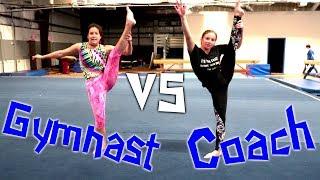 Gymnast VS Coach: ABC Gymnastics Challenge| Rachel Marie