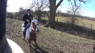 Alice and The Ledbury Hunt at The Hunter's Inn Meet. 6th March 2015