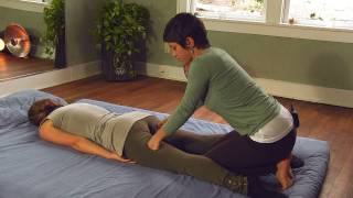 Asian Thai Massage Legs & Hamstrings Stretch How To | Jen Hilman Massage Therapy Techniques
