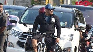 Salman Khan goes cycling on the streets of Mumbai | Bollywood News