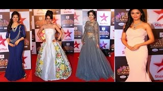 Star Plus leading Lady's on the Red Carpet of Star Parivaar Award 2016 - ( Special Interviews )