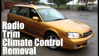 Subaru Legacy: How to remove Dashboard Trim Fascia, Radio, Climate Control 3rd Gen MK3, Bojo Tools