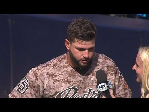 ARI@SD: Alonso's on-field interview after walk-off