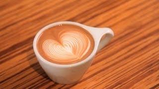 How to Pour a Rippled Heart | Latte Art