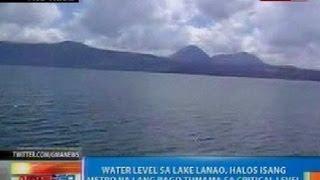NTG: Water level sa Lake Lanao, halos isang metro na lang bago tumama sa critical level