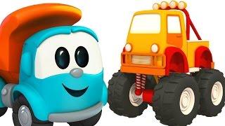 Leo the truck. Car cartoons for children. 🚚 Leo truck & Monster truck. Leo truck cartoon.