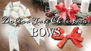 DOLLAR TREE CHRISTMAS BOWS | DIY TUTORIAL | CHEAP & EASY!