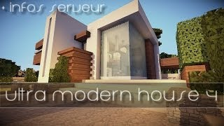 Minecraft Let S Tuto 16x16 Ultra Modern House Playithub