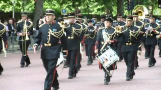 French Artiilery Band Waterloo 200 parade London