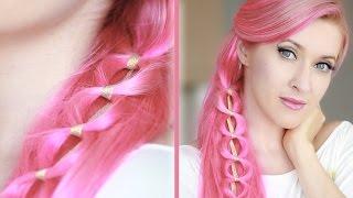 Kawaii hairstyle for long hair ✿ Chain braid hair tutorial