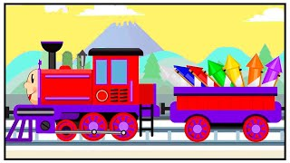 TRAIN - Counting and Playing with Fireworks - New Kids Cartoon Animation