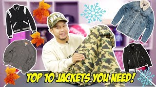 2017 TOP 10 JACKETS FOR FALL   WINTER
