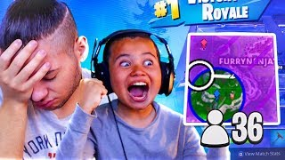 MY LITTLE BROTHER FINALLY WINS HIS FIRST GAME OF SCRIMS ON BUILDER PRO!! COMPETITIVE FORTNITE BR
