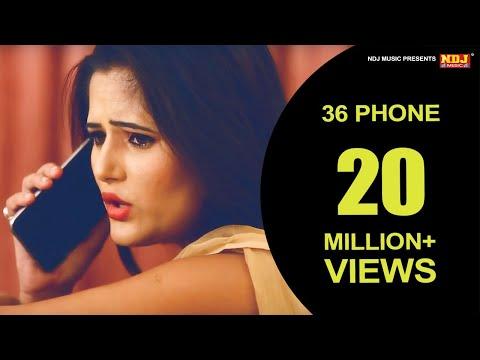 36 Phone || Haryanvi DJ Song 2016 || Anjali Raghav || Latest Haryanvi Song 2016 || NDJ Music