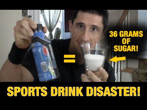 Sports Drink Disaster HIDDEN SUGARS