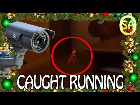 Elf on a shelf caught moving on camera FULL CCTV VIDEO