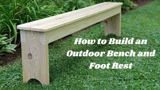Outdoor Bench and Foot Rest